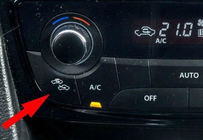 Кнопка включения рециркуляции воздуха