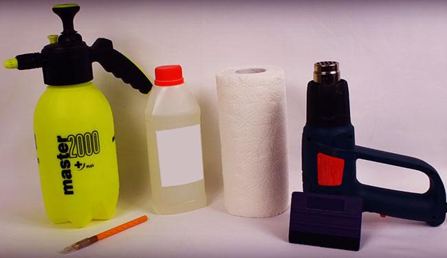 Необходимые инструменты и материалы для тонировки фар