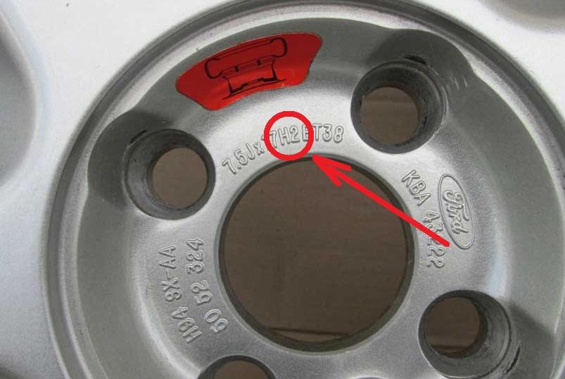 Обозначение кольцевых выступов на маркировке