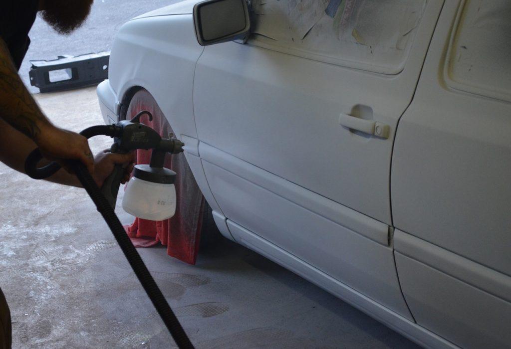 Покраска автомобиля жидкой резиной из краскопульта